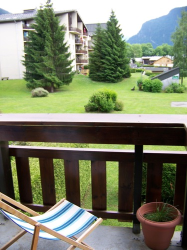 Location Samoens : balcon