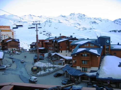Location Val Thorens : Vue balcon