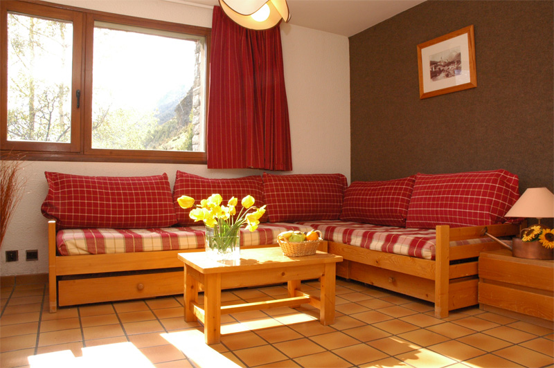Location Val Cenis : Salon appartement Lanslevillard