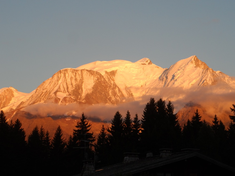 Location Saint Gervais : Photo prise du balcon